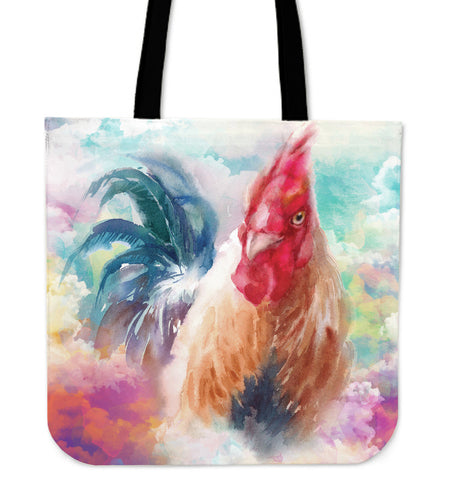 chicken painting color p2 - tote bag