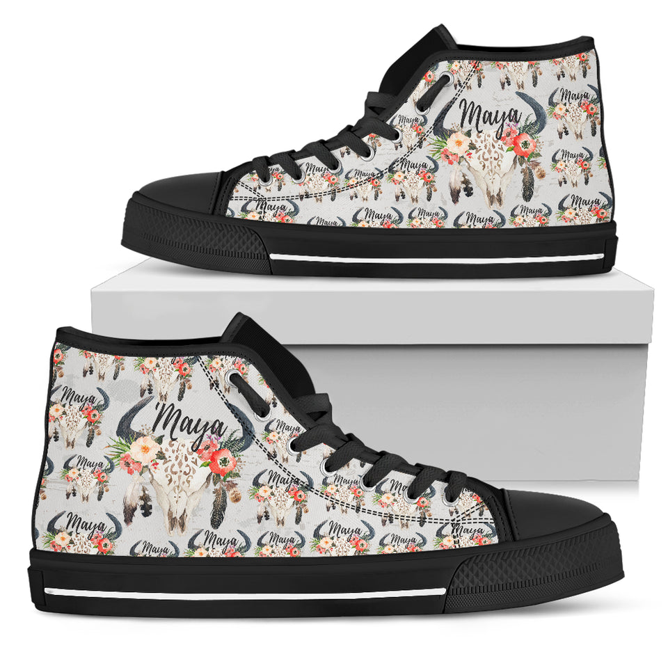 High Top Canvas Shoe - Cow for Men & Women