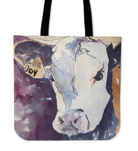 Tote Bag -  Cow painting style 09