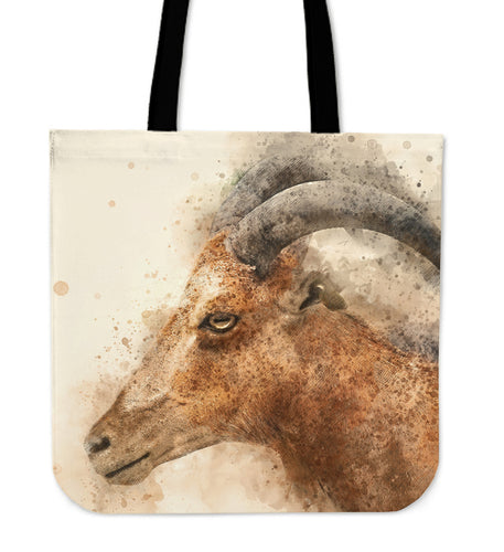 Goat painting-p10-tote bag