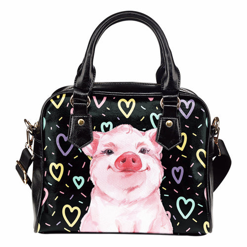 Pig heart-Shoulder Handbag - Barnsmile.com-Barnsmile.com-shirt, tees, clothings, accessories, shoes, home decor