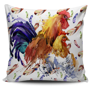 Chicken watercolor-p1-pillow case - Barnsmile.com-Barnsmile.com-shirt, tees, clothings, accessories, shoes, home decor