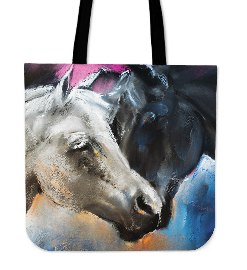 Horse painting - p8-tote bag