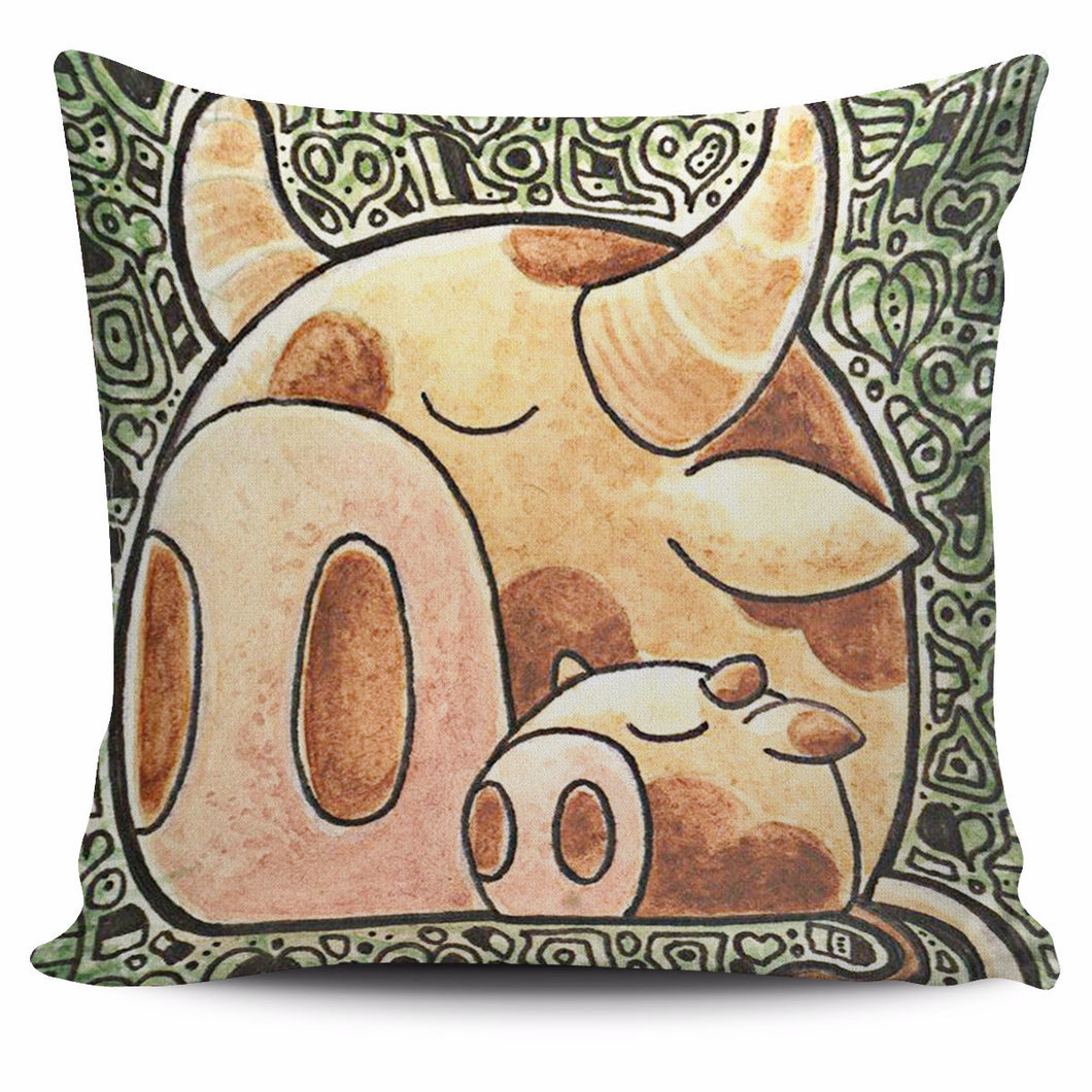 Set animal cow pillow cover