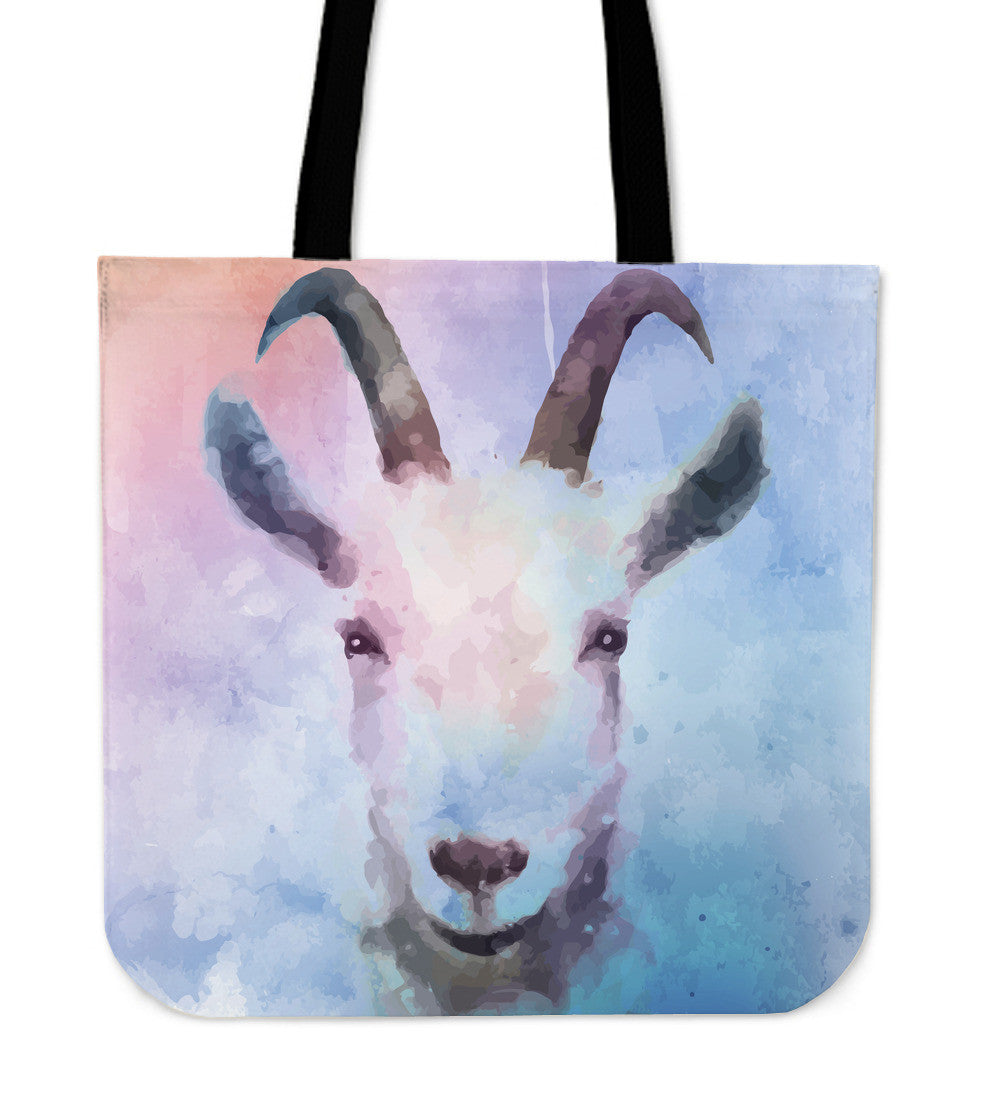 Goat water color - tote bag