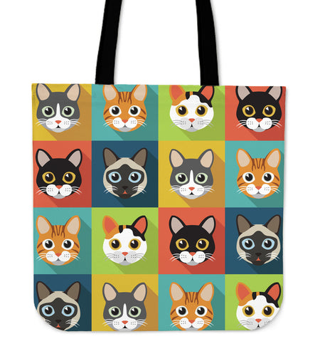 Cute Cats Tote Bag for Cat Lovers