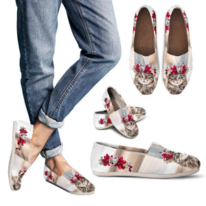 Women's Casual Shoes - Cat flower cute