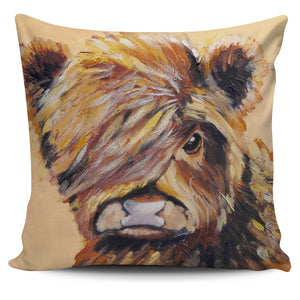 Pillow Cover - cow painting style 19