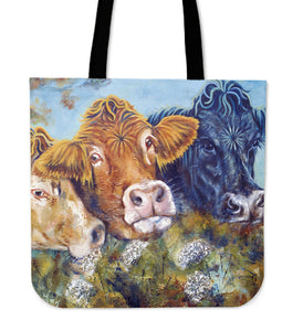 Tote Bag -  Cow painting style 19
