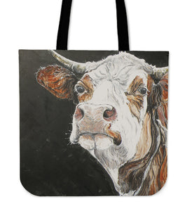 Tote Bag -  Cow painting style 13