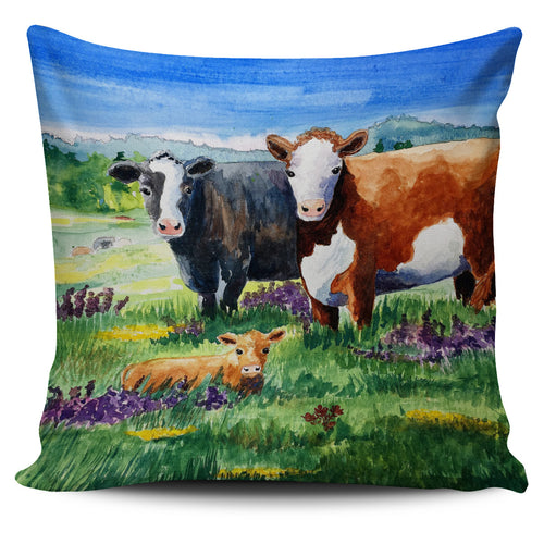 Pillow Cover - cow painting style 14