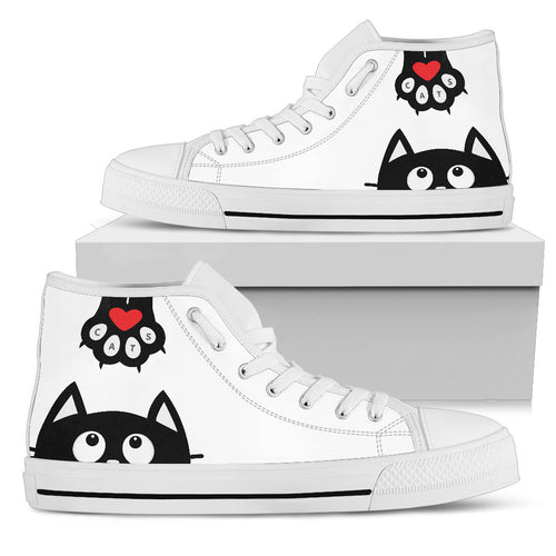 Cute Cat Women High Top Shoes