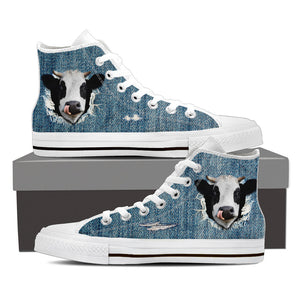 Cow 3d - jean canvas shoes