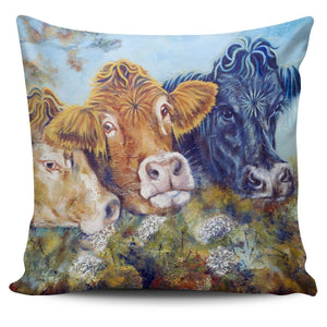 Pillow Cover - cow painting style 18