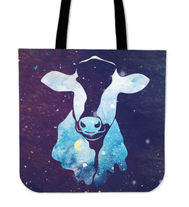 Cow galaxy - canvas tote bags