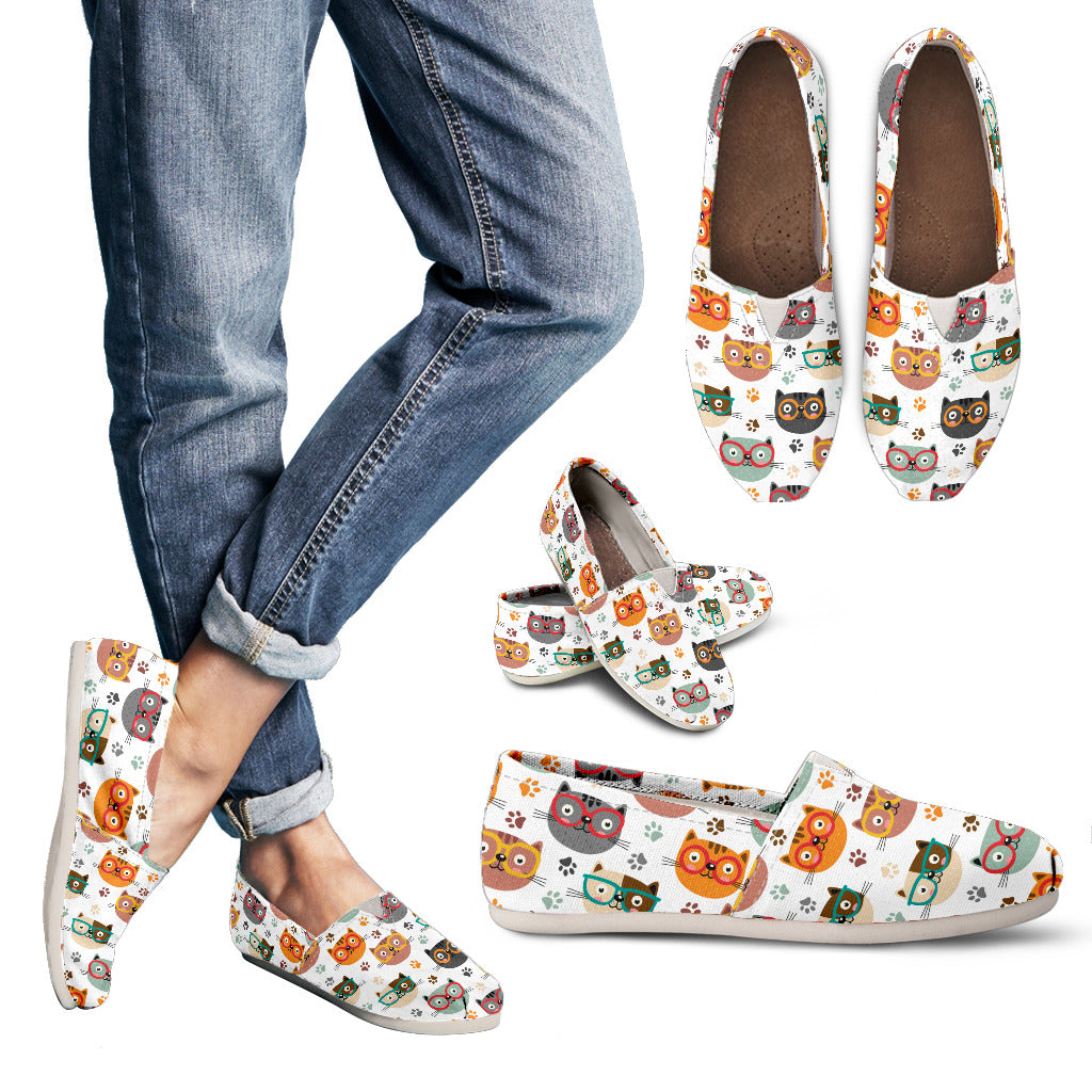 Cats With Glasses Women's Casual Shoes