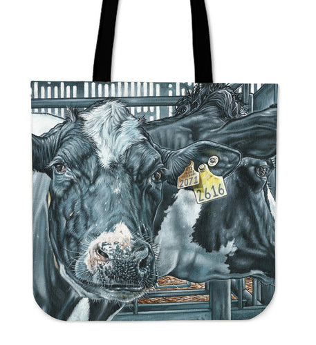 Tote Bag -  Cow painting style 21