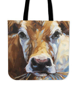 cow painting-p5 - tote bag - Barnsmile.com-Barnsmile.com-shirt, tees, clothings, accessories, shoes, home decor