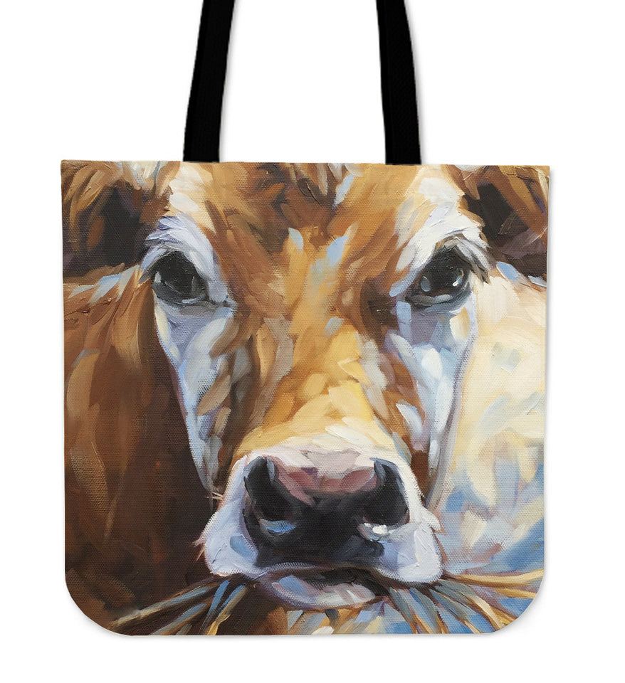 cow painting-p5 - tote bag