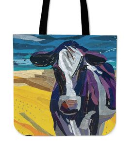 Tote Bag -  Cow painting style 16