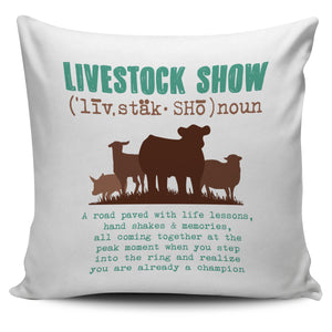 livestock show-pillow case