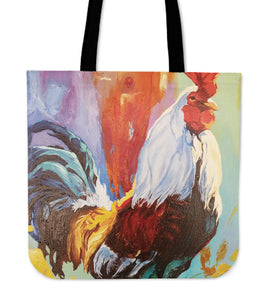 chicken painting-06-tote bag