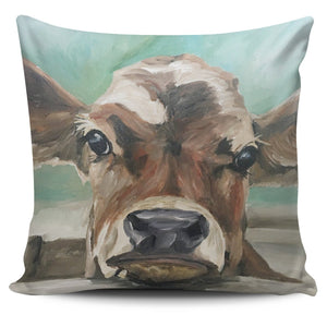 Pillow Cover - cow painting style 13
