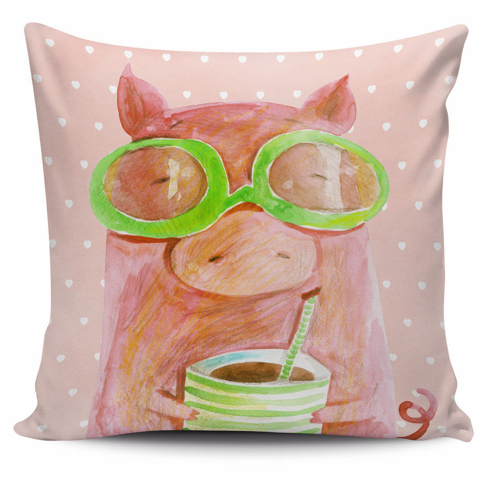 Cute pig pillow cover