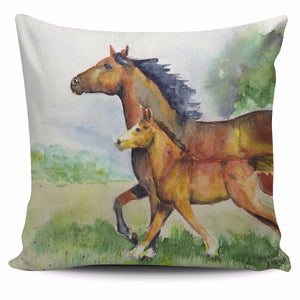 Horse painting - p17-pillow case