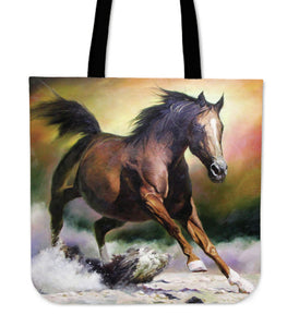 Tote Bag for Horse Lovers - Run