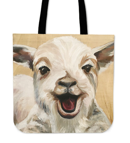 goat painting - tote bag
