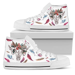 Skull cow-canvas shoes