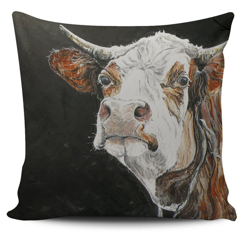 Pillow Cover - cow painting style 12