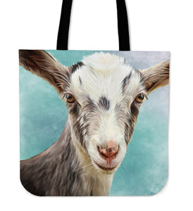 Goat painting - p4 - tote bag