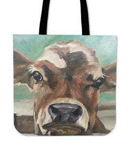 Tote Bag -  Cow painting style 14