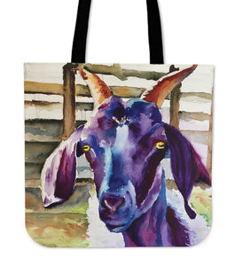 Goat painting-p8-tote bag
