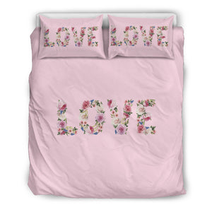 Floral Love - Pink Pig - Bedding Set (Beige)