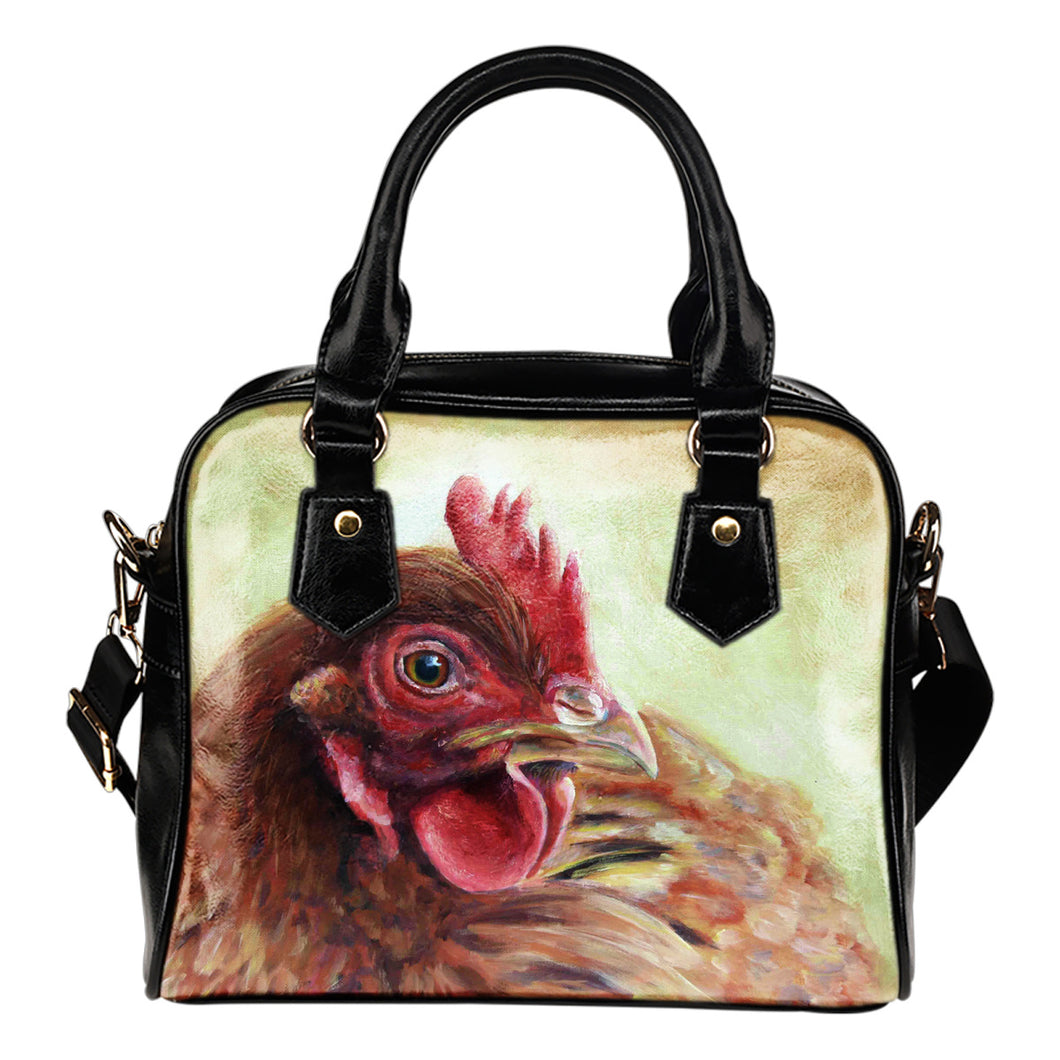 chicken painting color -p3-handbag