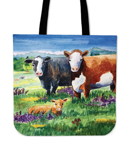 Tote Bag -  Cow painting style 15