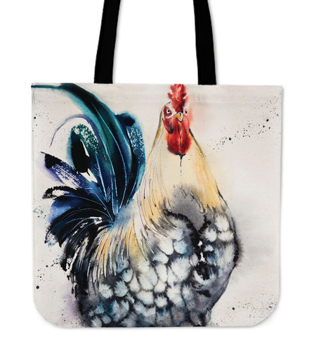 chicken painting-07-tote bag