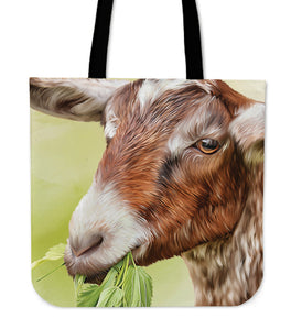 Goat painting - p5 - tote bag
