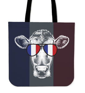 Vintage Cow Tote bag - Vive La France