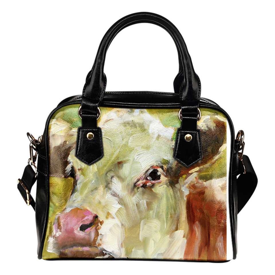 Cow painting-p3-handbag