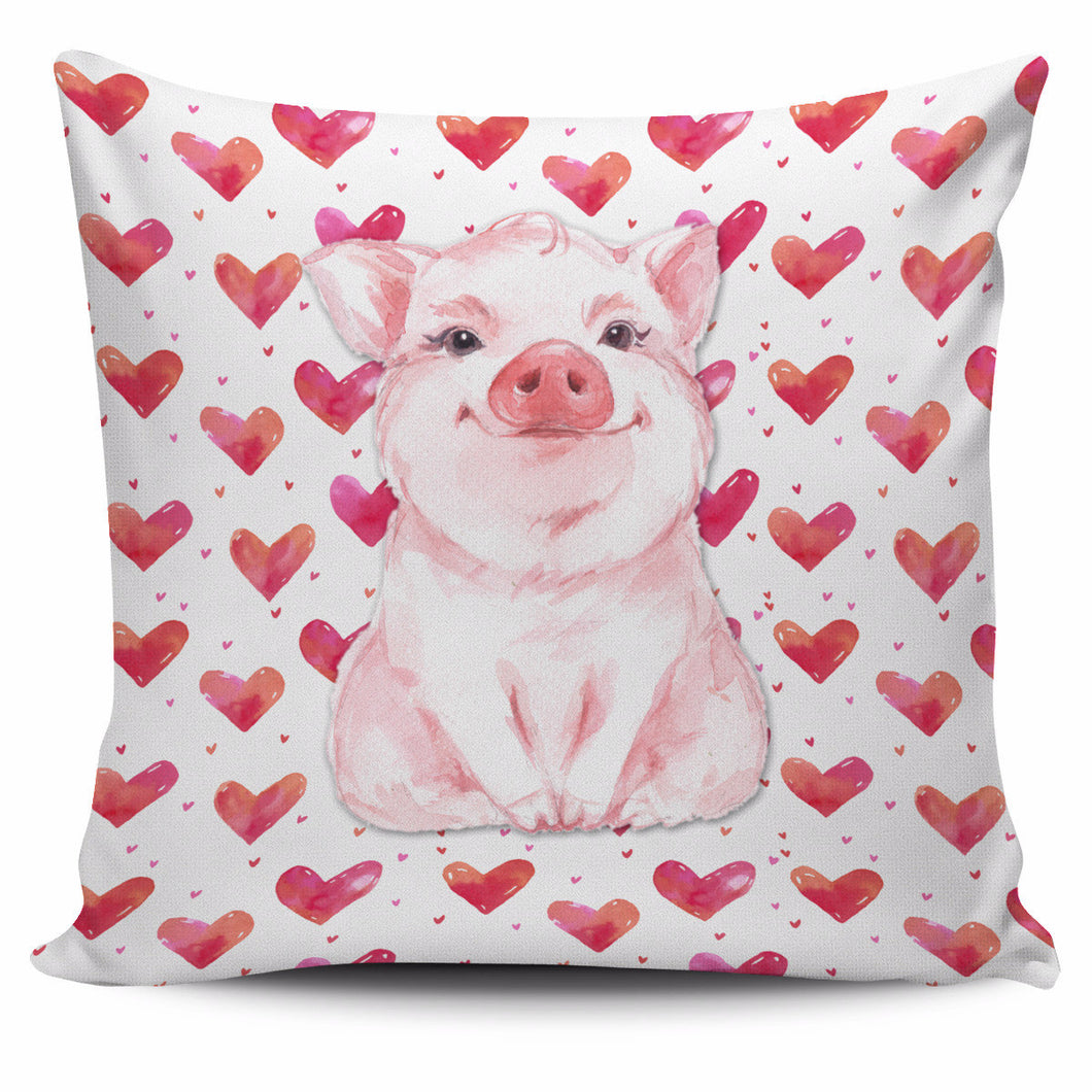 Pillow Cover - pig cute - Barnsmile.com-Barnsmile.com-shirt, tees, clothings, accessories, shoes, home decor