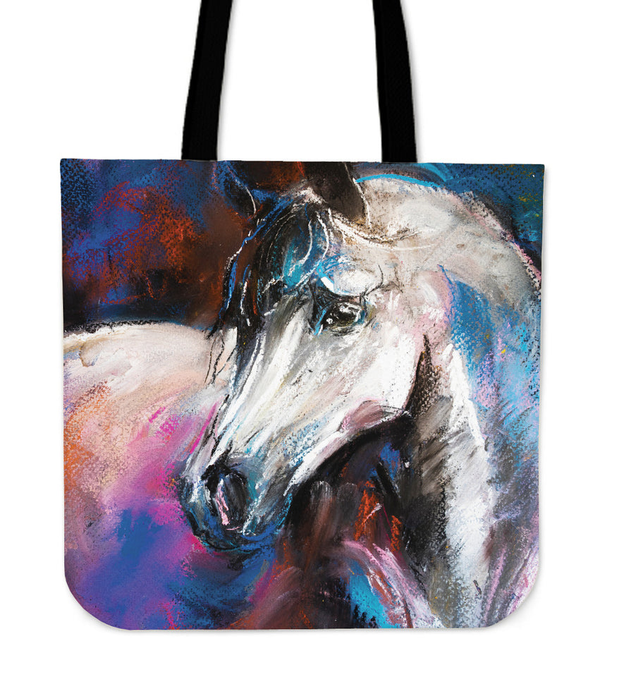 Horse painting - p12-tote bag