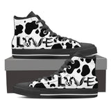Love cow skin-canvas shoes