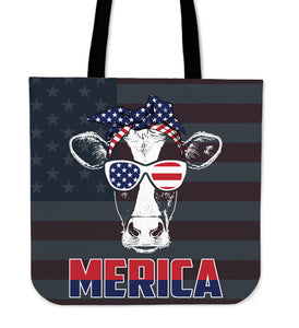 Patriot Cow - Tote Bag