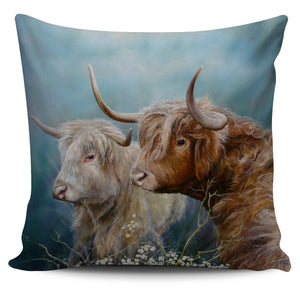 Pillow Cover - cow painting style 09