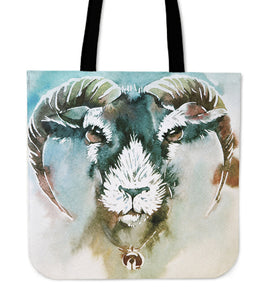 Goat painting-p9-tote bag