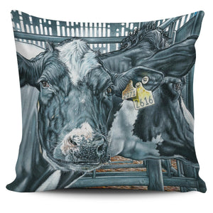 Pillow Cover - cow painting style 20